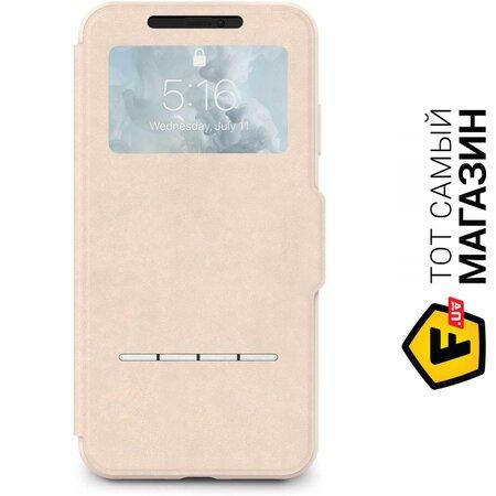 Чехол Moshi SenseCover Touch-Sensitive Portfolio Case with SensArray for iPhone Xs Max, Savanna Beige (99MO072112) | Seven.Deals