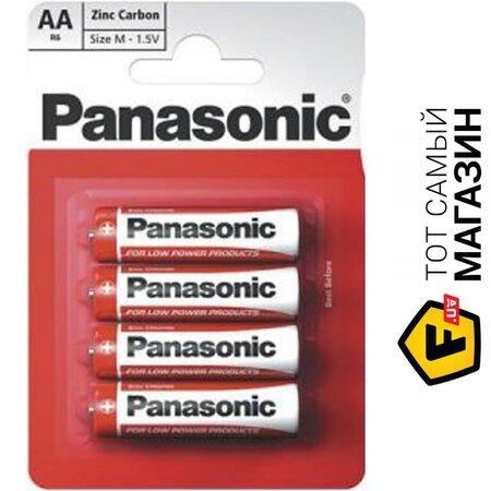 Батарейка Panasonic Red Zink AA, 4шт. (R6REL/4BP) | Seven.Deals
