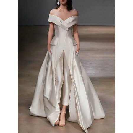 Sexy Solid V-Neckline Maxi X-line Dress (1955392945) | Seven.Deals
