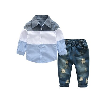 Boys' Casual Color Block Daily Long Sleeve, Clothing Sets (30165333034) | Seven.Deals