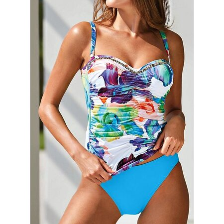 Polyester Floral Tankinis Swimwear (30015405815) | Seven.Deals