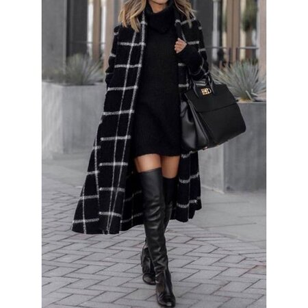 Long Sleeve Collarless Sashes Wrap Coats (1715437782) | Seven.Deals